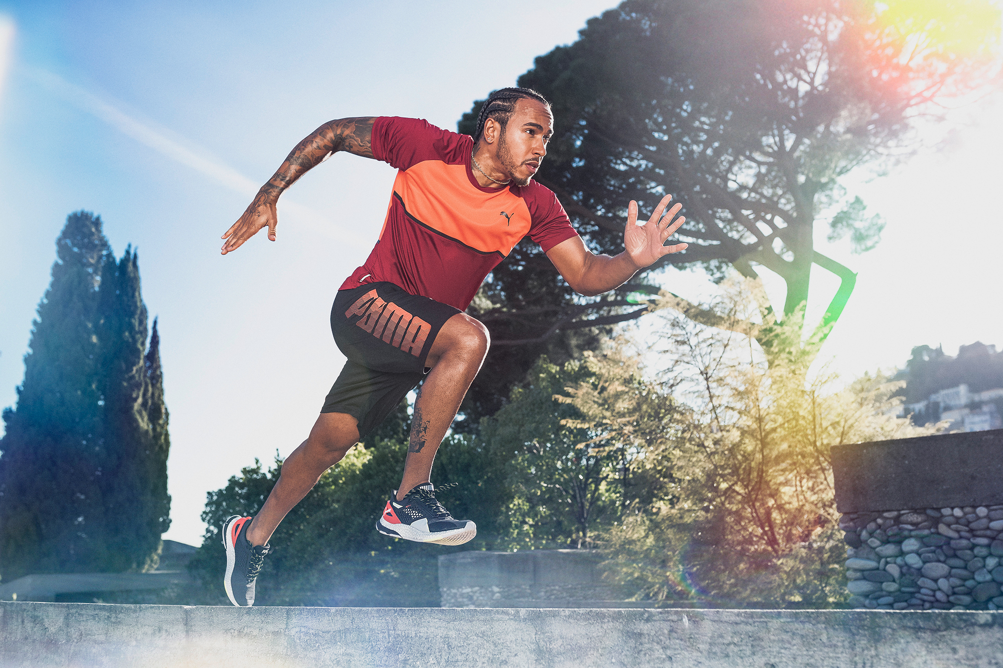 Lewis Hamilton, Formula 1 Champion. Puma Running and Training Hybrid