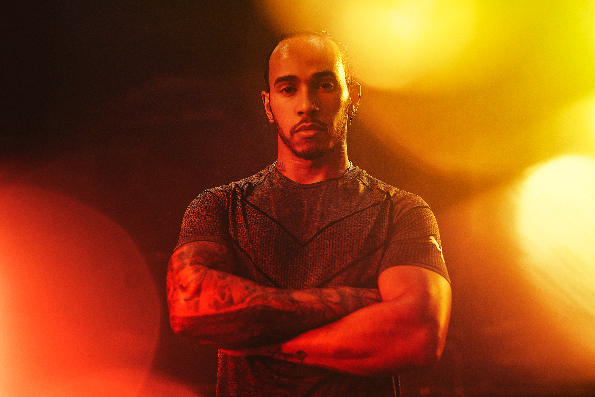 Lewis Hamilton, Formula 1 Champion. Puma Running and Training Hybrid.