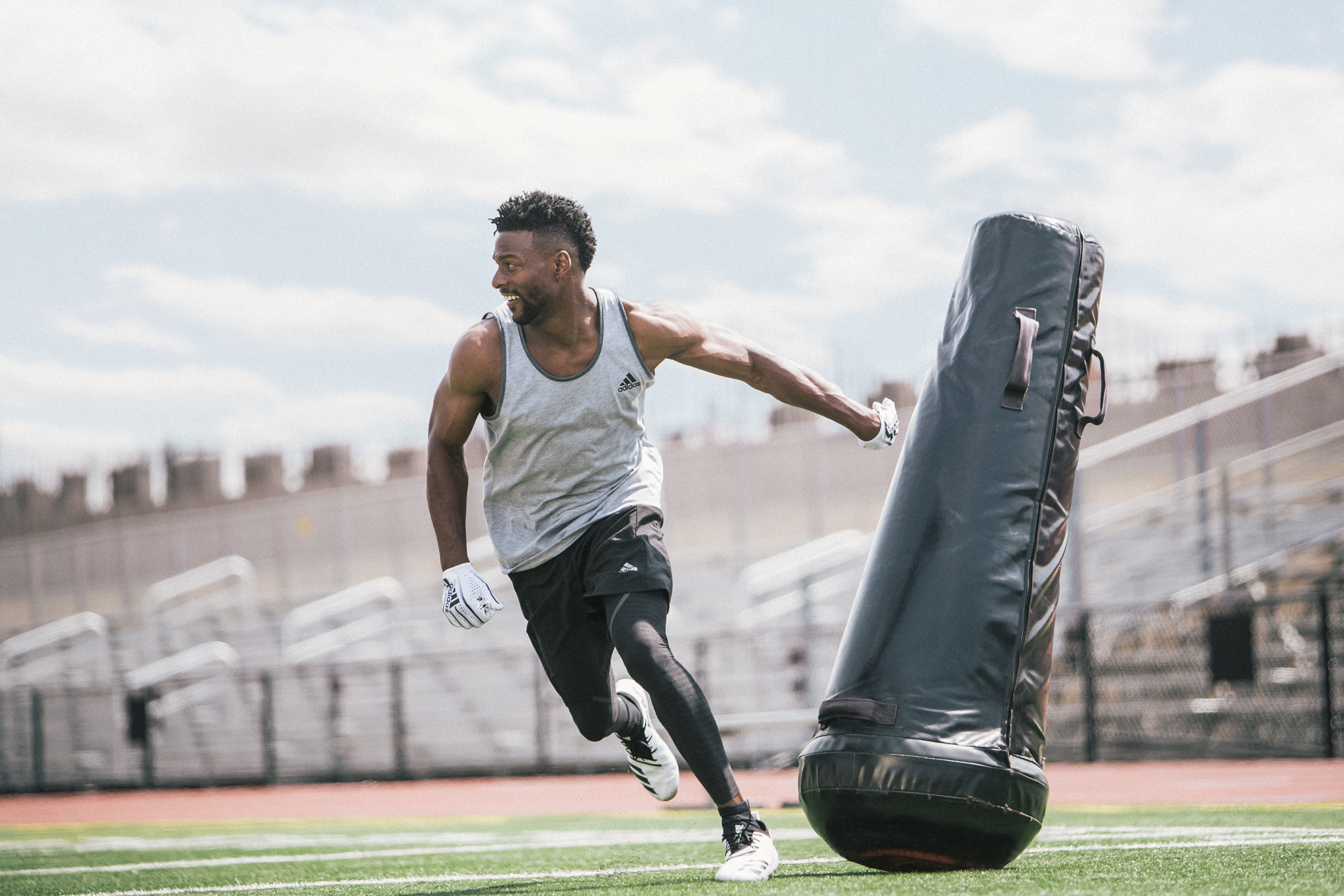 Emmanuel Sanders adidas adi zero football training