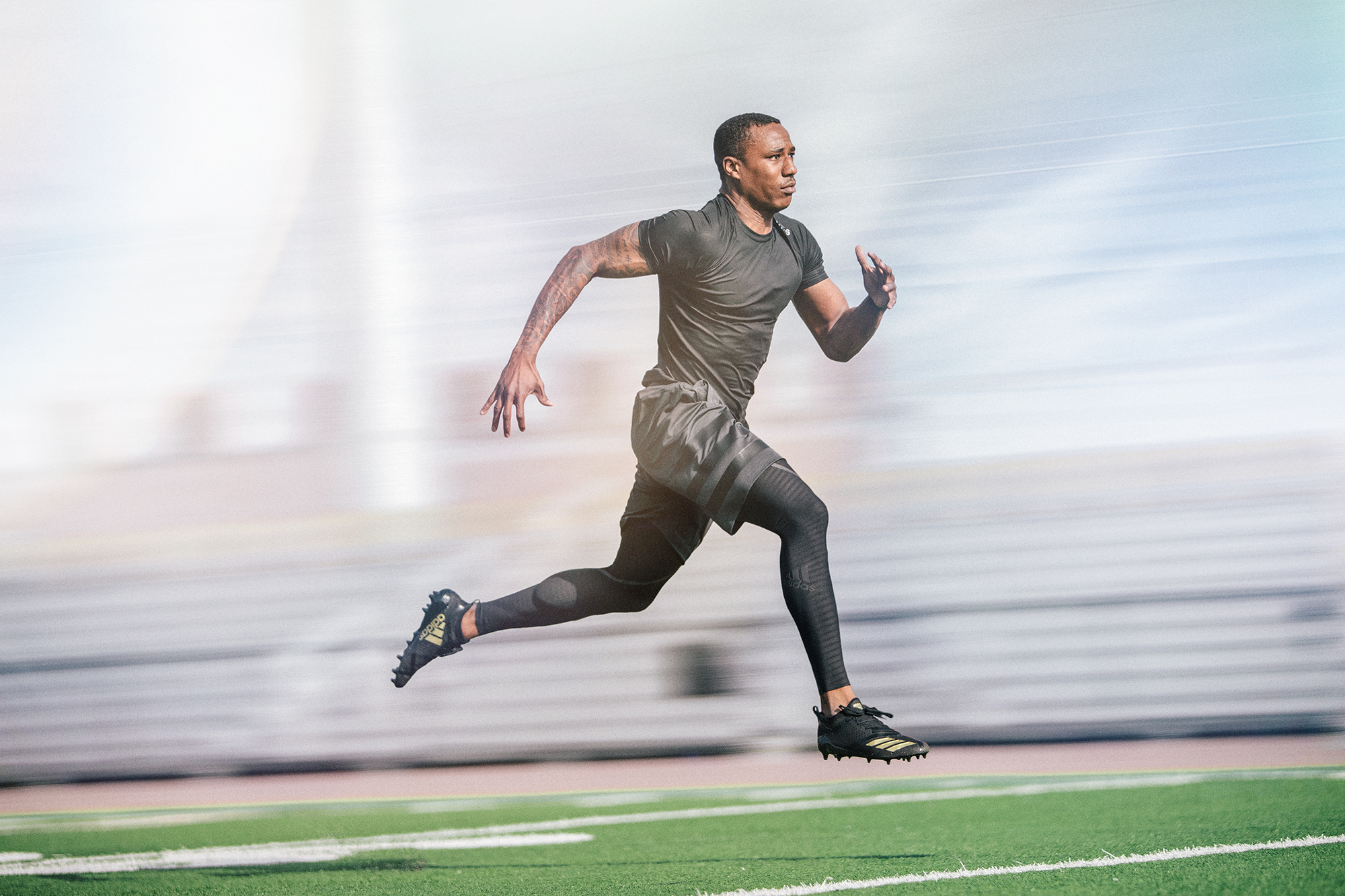 Marcus Peters, cornerback for the LA Rams, shot in Adi Zero for Adidas Football