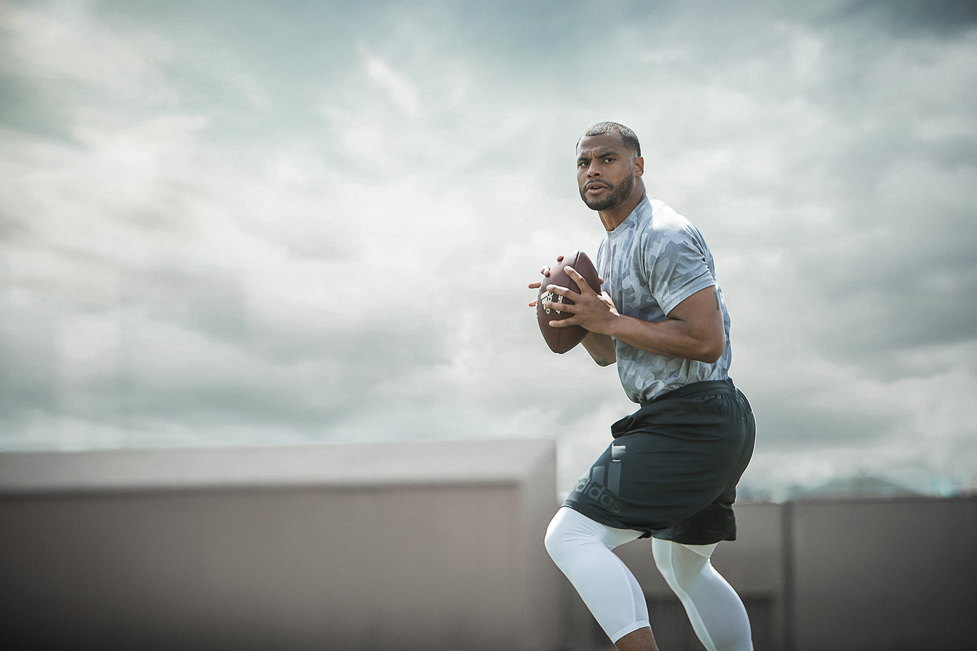 Dak Prescott football training adidas