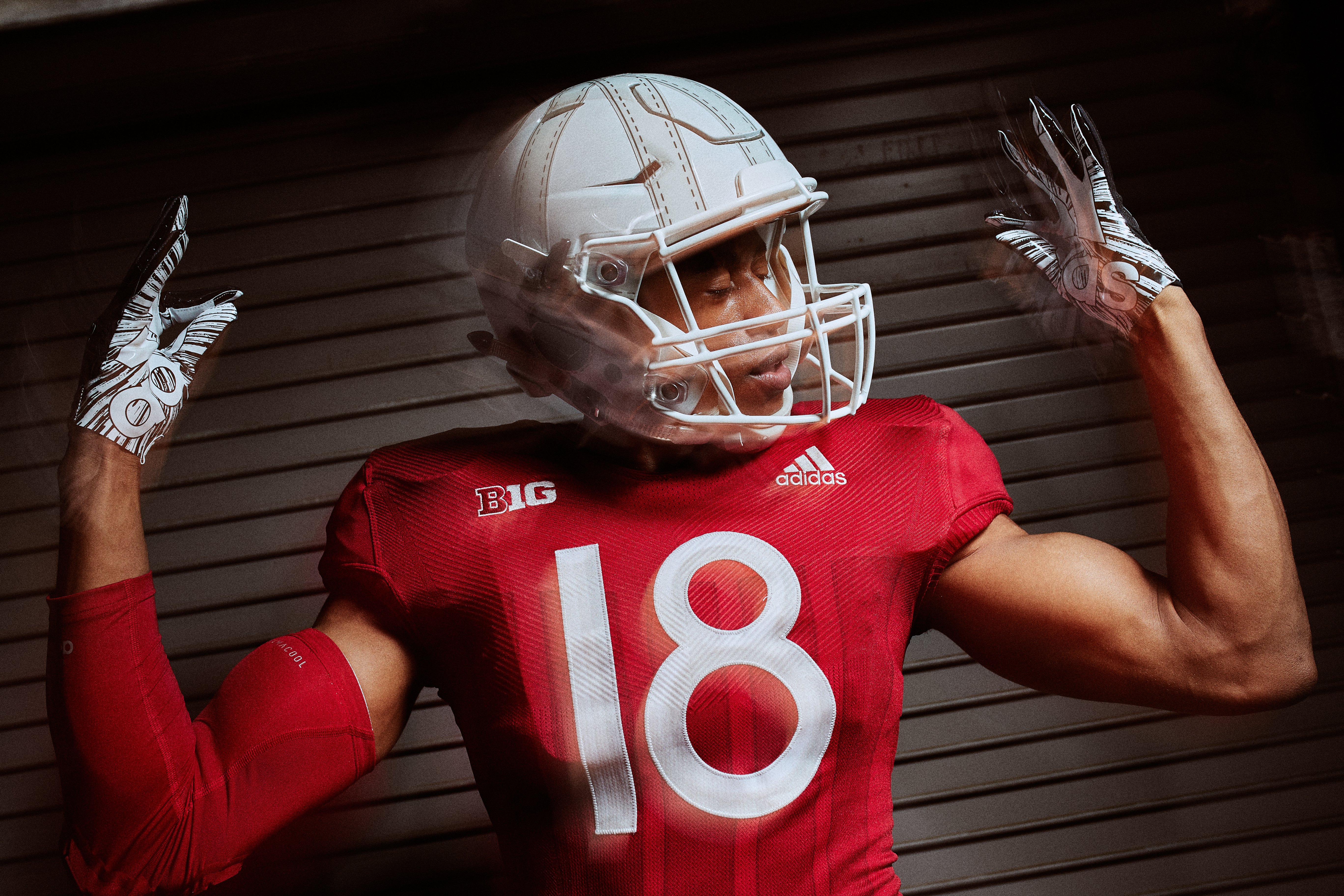 NCAA Football Nebraska Cornhuskers Adidas