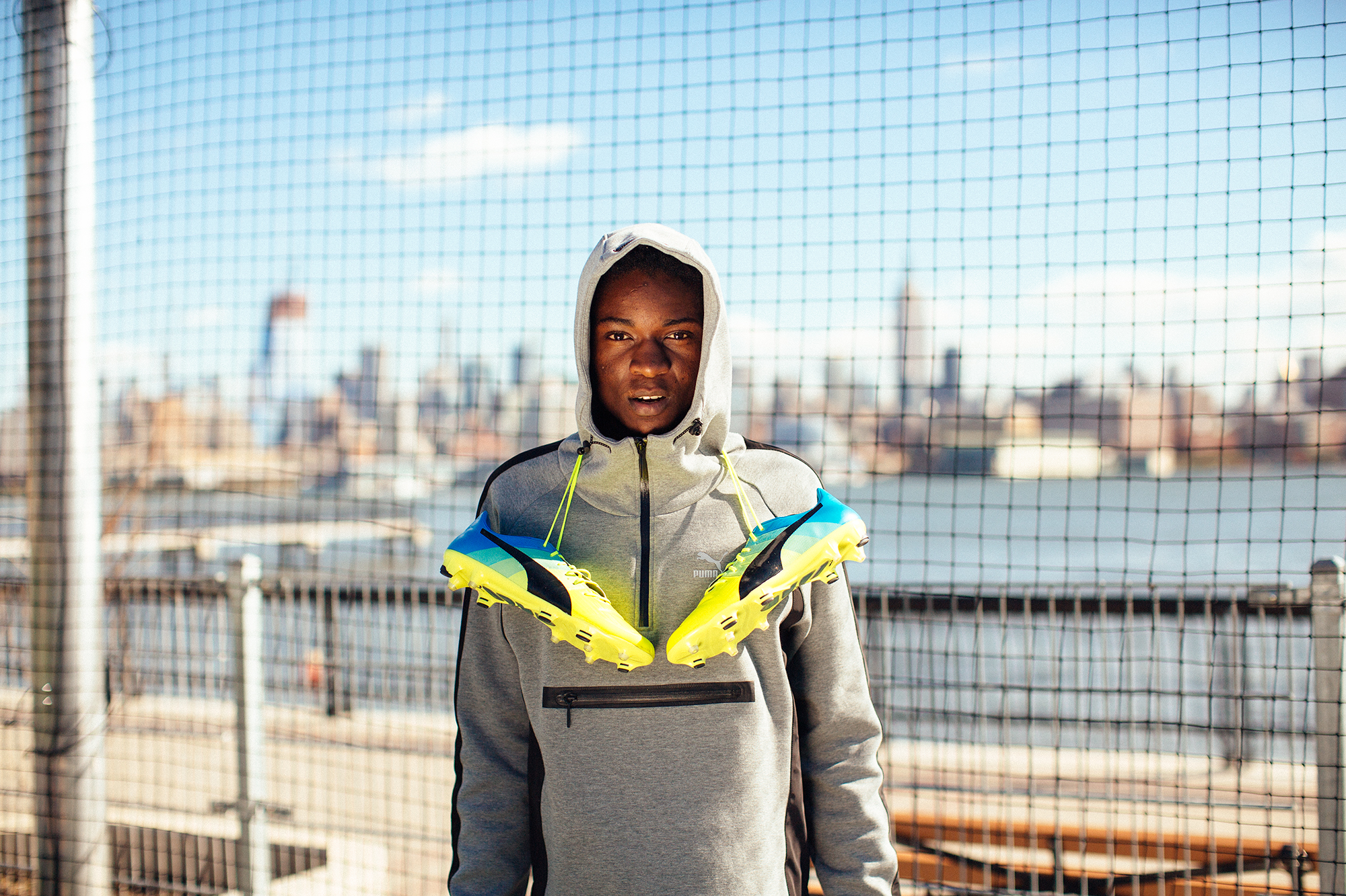 PUMA football new york NYC street football  Brenton Salo Photography
